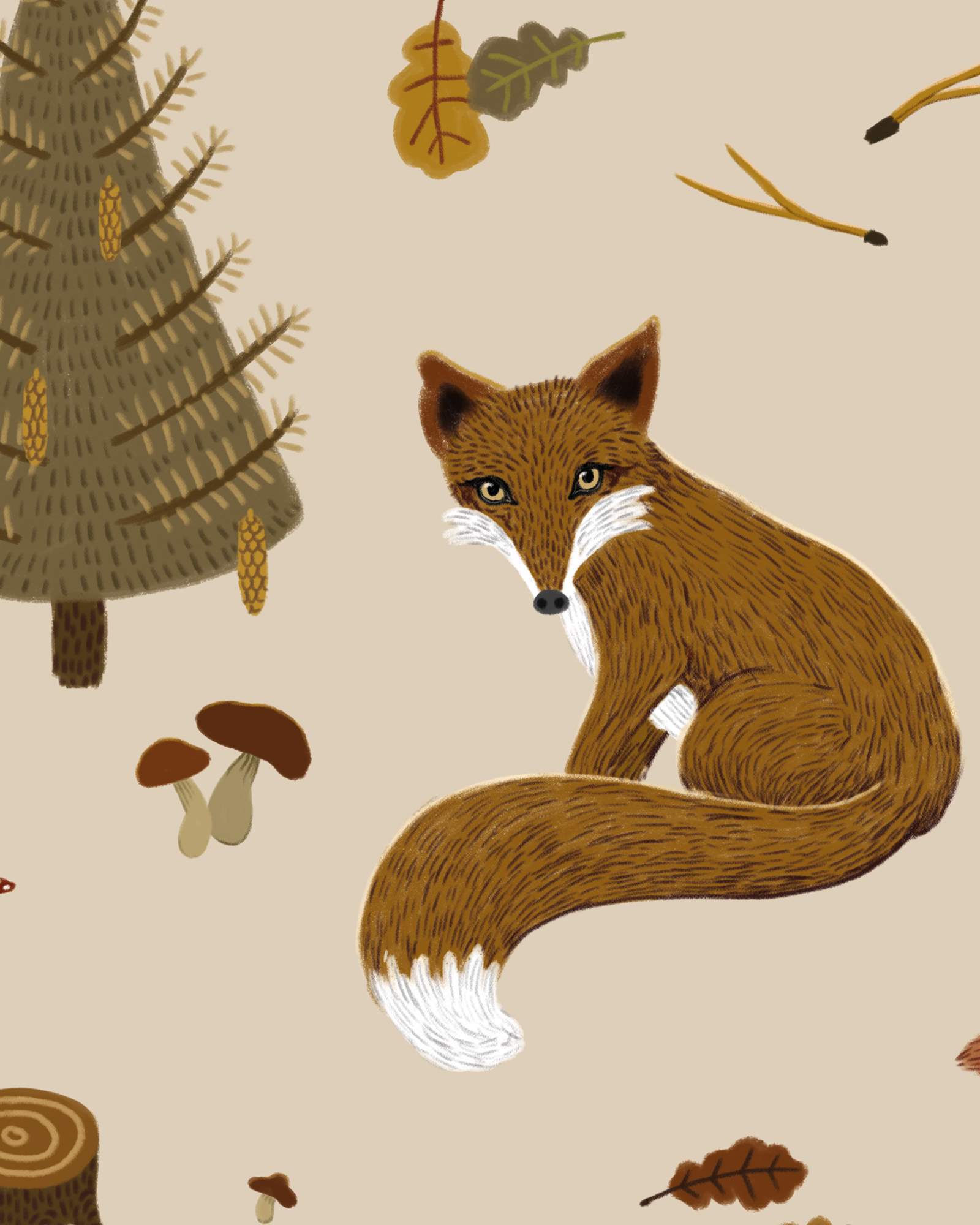 Fall_forest_pattern-fox