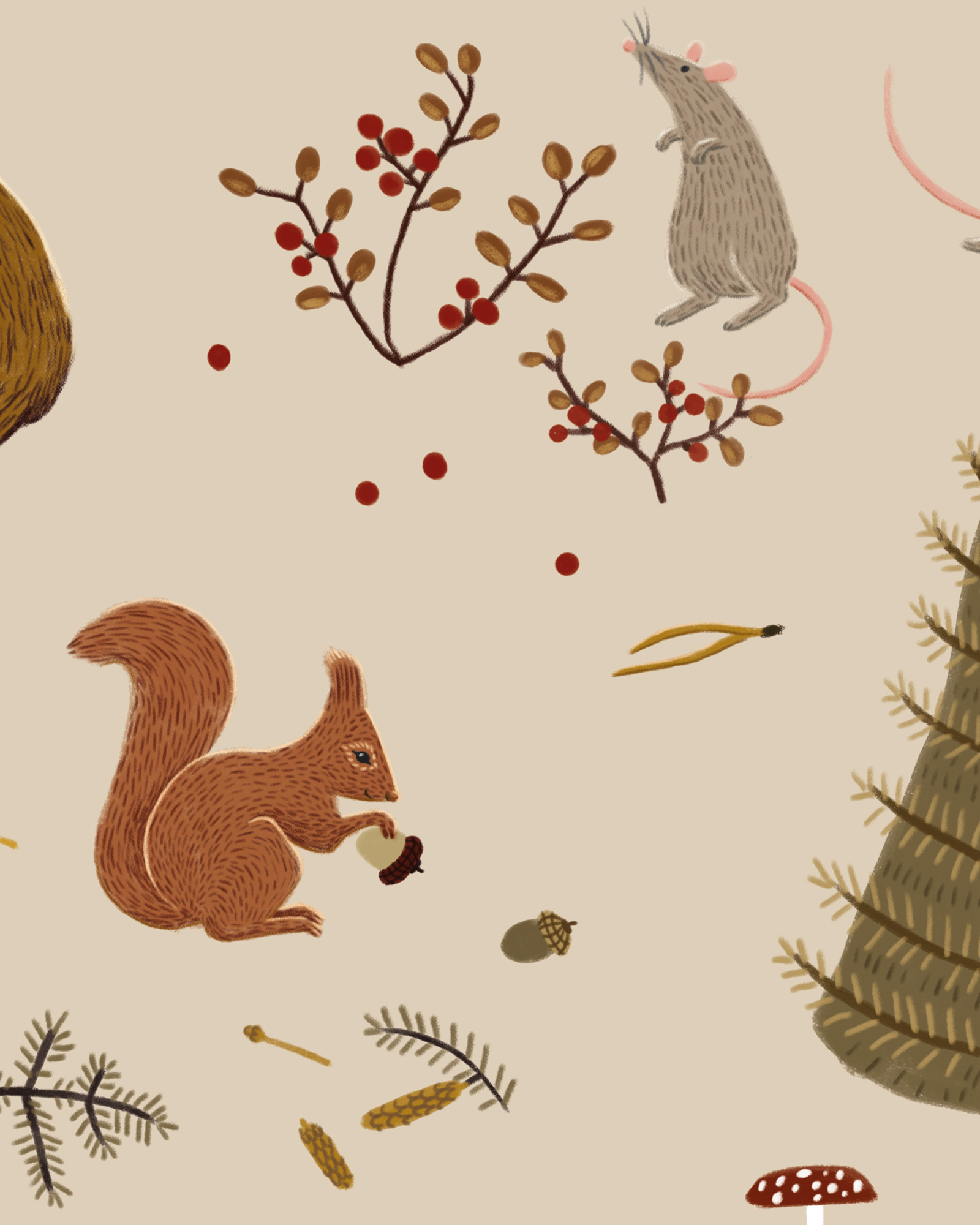 Fall_forest_pattern-squirrel